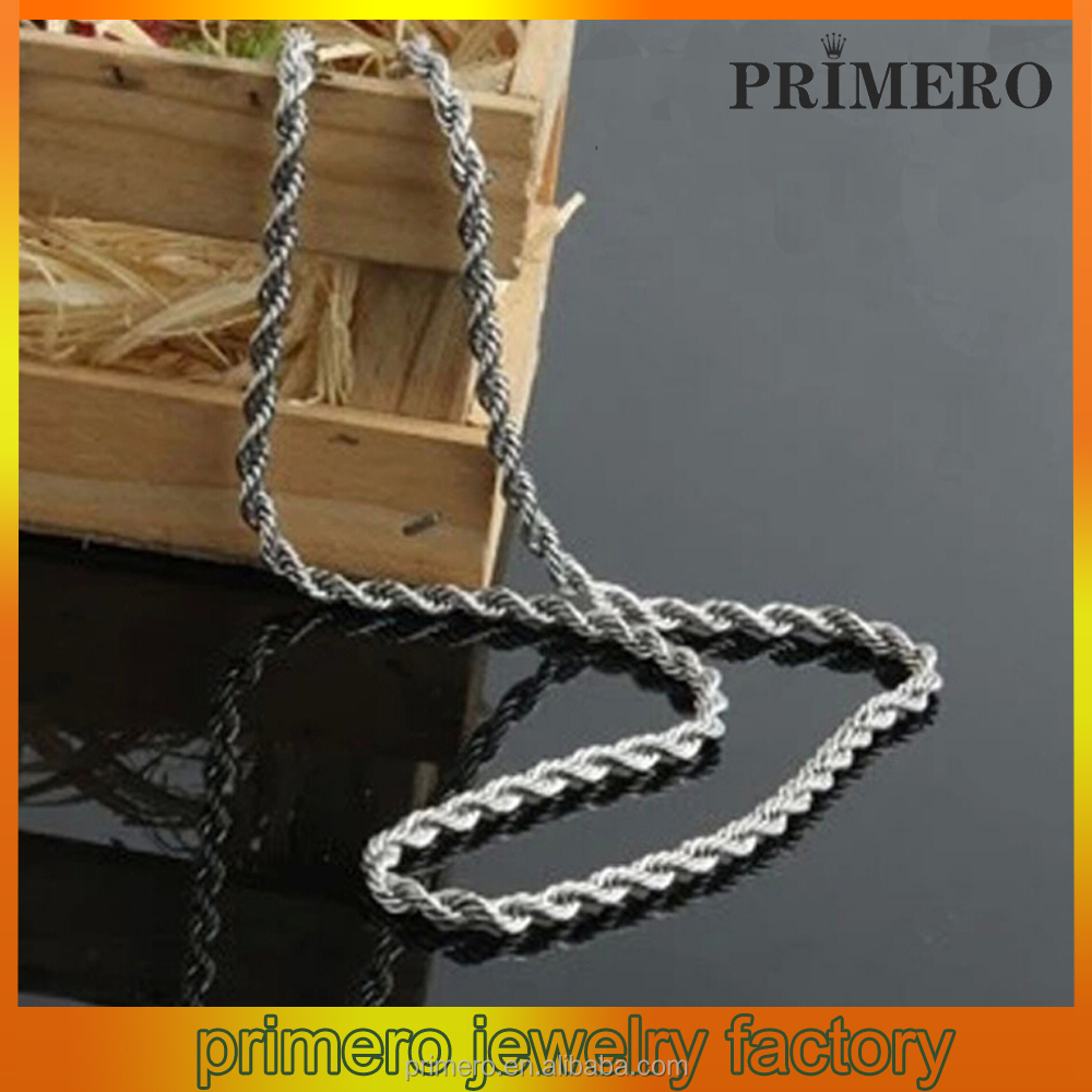 PRIMERO Titanium steel Metal Twisted Chain Stainless steel necklace Decorative pendant Jewelry Accessories Men's thick necklace
