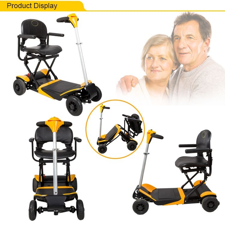 2017 new model electric 4 wheel disabled elderly used portable electric mobility scooter