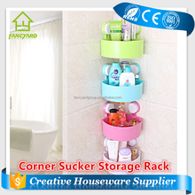 FY5134 Corner Sucker Kitchen Storage Rack / Toilet Bathroom Plastic Storage Rack