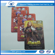 Full Color Customized PVC Plastic Game Prepaid Recharge Card