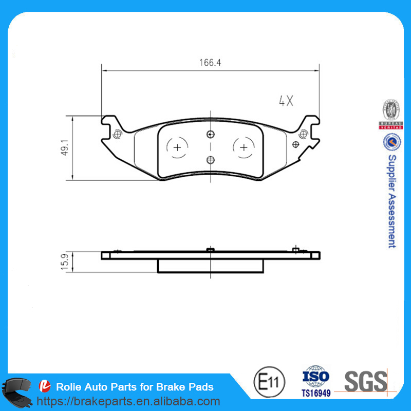 Auto Spare Parts Brake Pad D1046 Rear Axle Brake Pad FORDFORD Truck E150