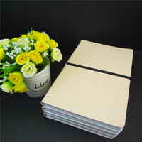 A6 specialized business gold leather year binder cheap student planner