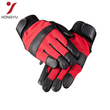PU material long leather palm work gloves wholesale