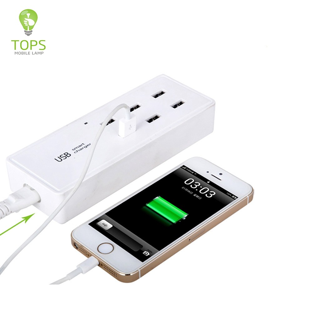High compatibility 6 PORTS MULTI 5V 50W travel universal EU UK socket power adapter WITH smart IC INSIDE