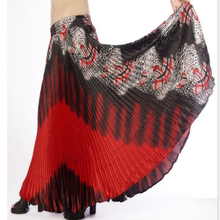 High quality peacock printed pleated tribal belly dancing skirt