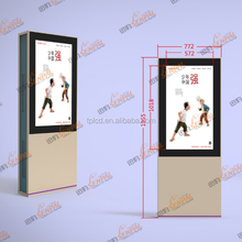 46 inch floor standing advertising display dual screen ,factory customized wih samsung led tv
