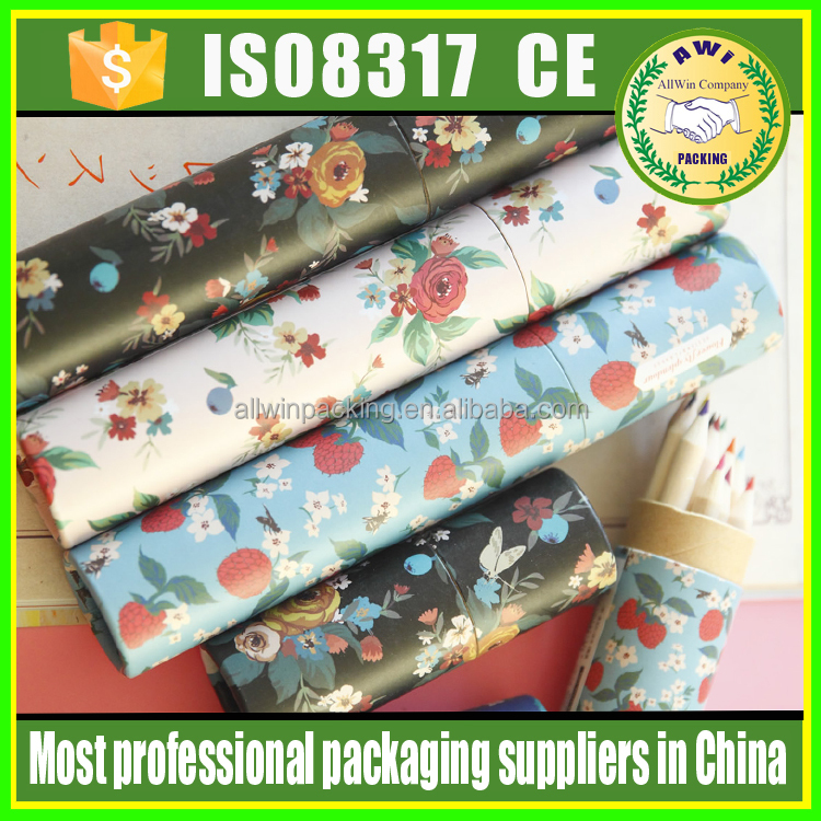 plastic lipstick tube/empty lipstick case with top quality paper tube for lip balm custom