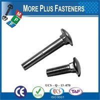 Made in Taiwan DIN 603 Mushroom Head Cup Square Neck Zinc Plated Carriage Bolt