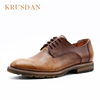 Guangzhou factory custom made high grade men's dress shoes lace up leather dress shoes