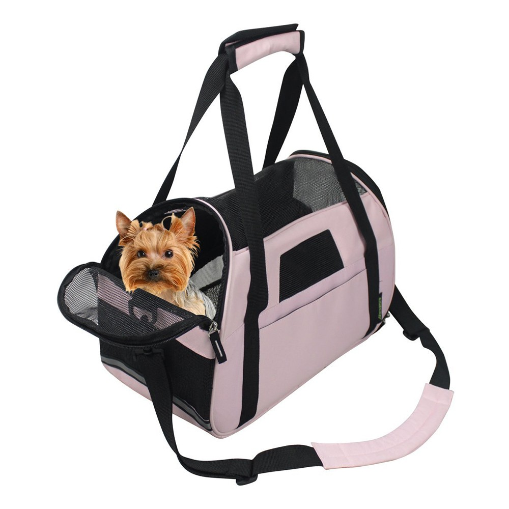 Portable Comfort 17-19 Inch Soft Sided Pet Carrier Airline Travel Cat/Dog Small Animals Waste Bag