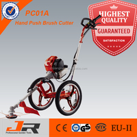 2014 best selling 4-stroke recognized hand push grass cutter with wheel