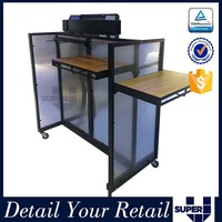 lockable promotion cheap counter display,portable promotional stand