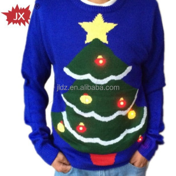 2015 year fashion Christmas Sweater with LED flash module for adults,boys and girls