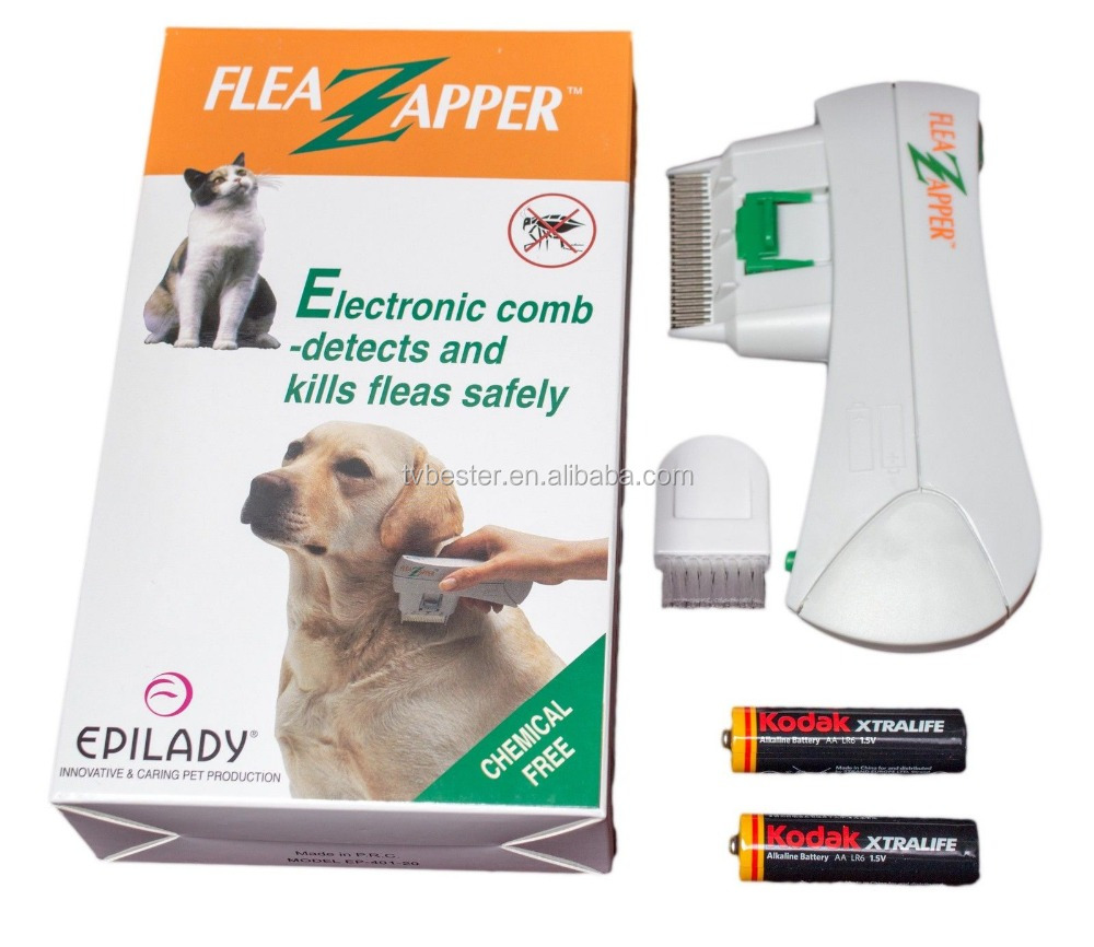 Electronic Electric Pet Cat Dog Safe Flea Zapper Comb Kills Fleas New