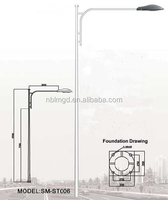 Q235 steel street light pole park high quality lamp post