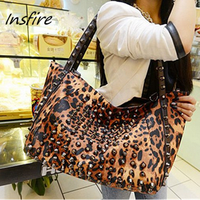 2016 Fashionable Leopard Figure Waterproof Lady Handbag