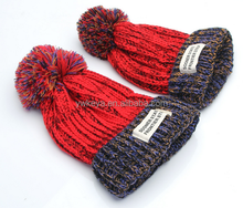 Fashionable 100% Acrylic Lady Winter Knitted Thicken Skull caps with 6 colors