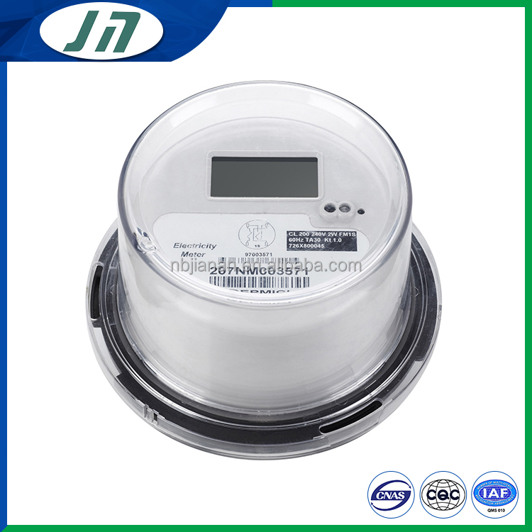 Round ANSI electric energy meter measuring instrument smart meter
