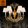 Antique Candle Holder Brass Lobby Chandelier