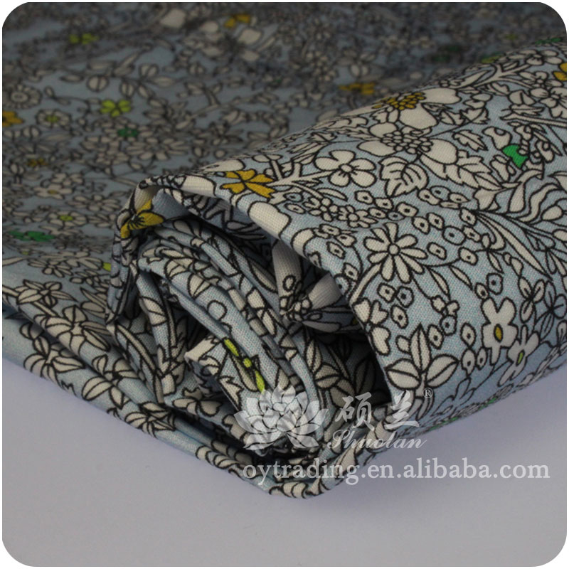 Popular selling printed shirting western textile fabric