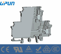 Shanghai upun manufacture supplier double layer base screw terminal blocks UKJ-4/2-2S-TG