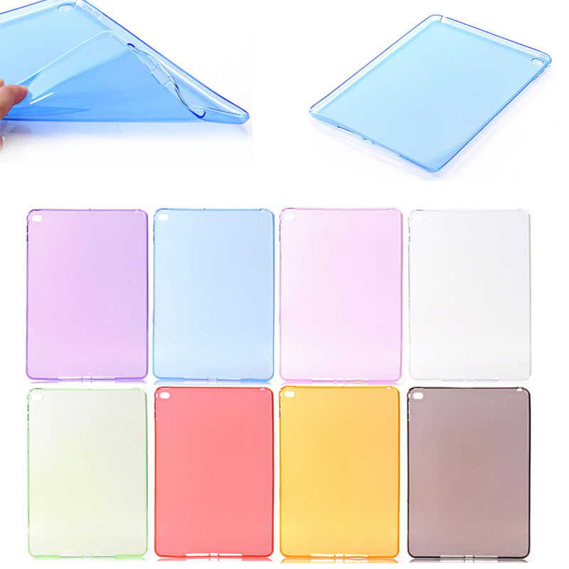 Wholesale Price !! Pure Color Ultra Thin Matte Clear TPU case for iPad Mini 4, for iPad Mini 4 cover case