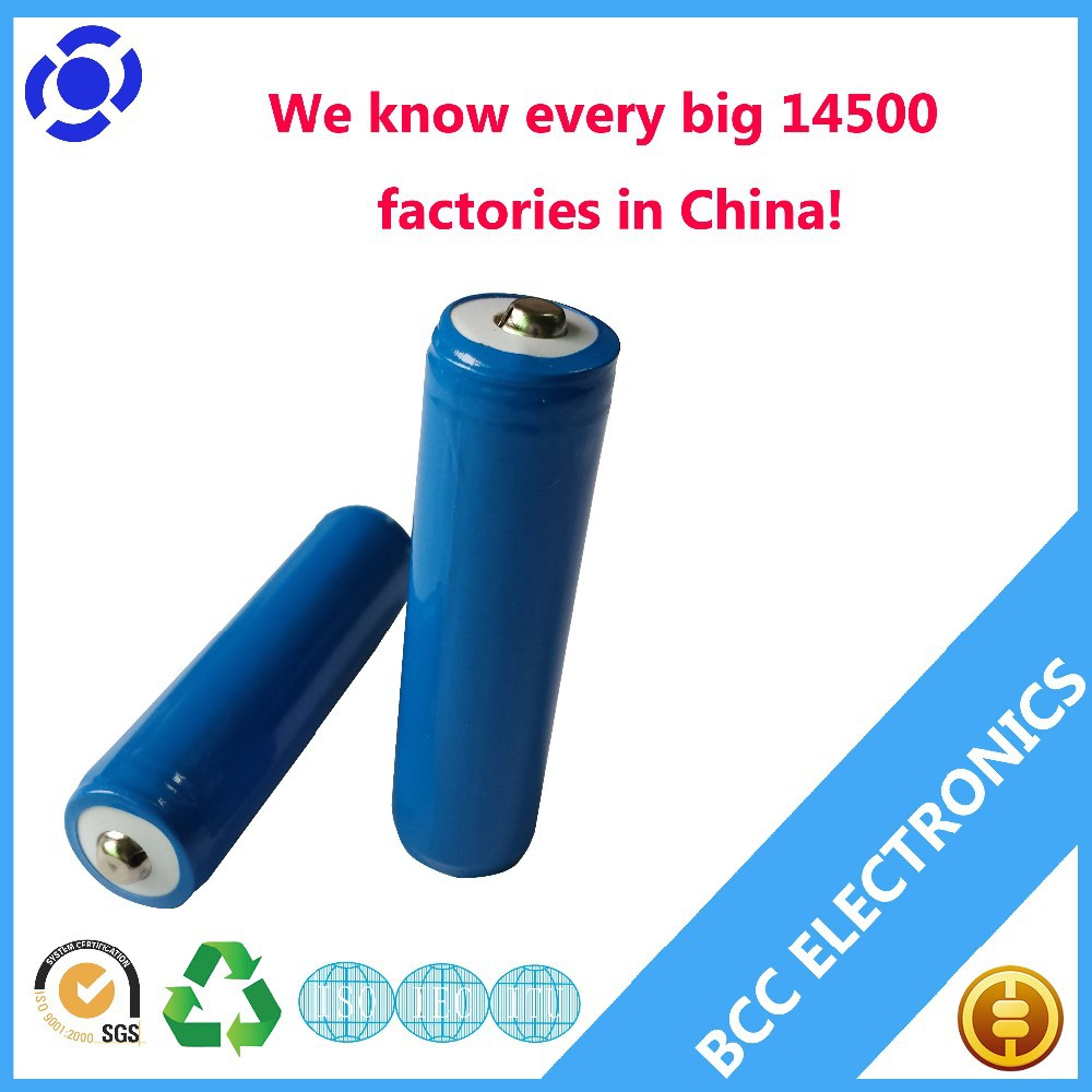 Rechargeable protected 3.7v 700mah icr 14500 li-ion battery