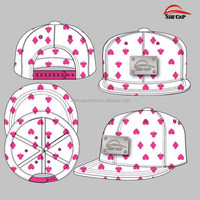 2015 CUSTOM DESIGN 5 PANEL ALL OVER PRINTING SNAPBACK HAT WHOLESALE METAL LOGO