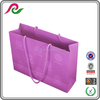 recycle foldable shopping paper bag printing with company brand name