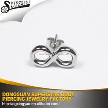 EN1888 high quality frame china stainless steel fake ear plug piercing body jewelry