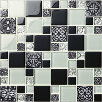 china colorful elegant crystal glass mosaic tiles factory