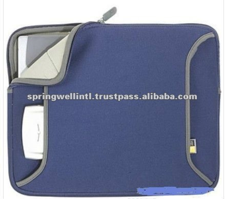 Blue colour Neoprene Computer bags with zipper