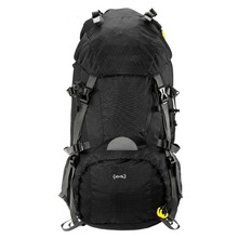 Large Capacity 45+5L Outdoor Sport Hiking Trekking Camping Backpack Travel Mountaineering Climbing Knapsack with Rain Cover