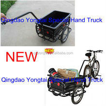 "16"" Double Wheels 90L plastic tray Qingdao Bicycle Cargo Trailer with CE certificate"
