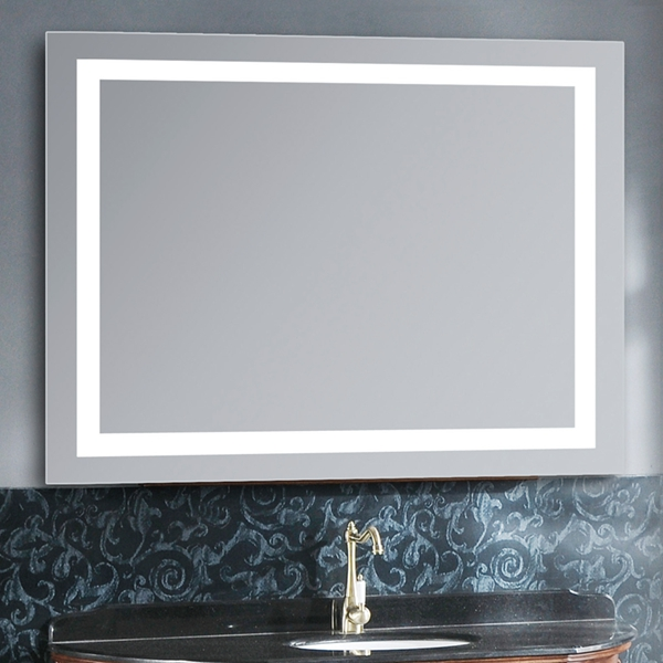 Led Radio Bluetooth Lighted Bathroom Mirror With Touch Switch