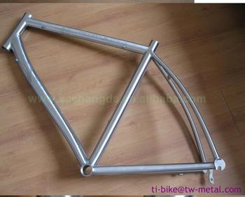 700C or 29er bicycle frame titanium road bicycle frame with integrated head tube