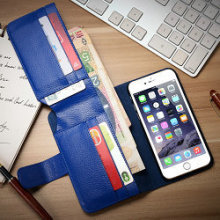 iCase Multicolor flip leather PU wallet crown pouch leather smart case for iphone 6