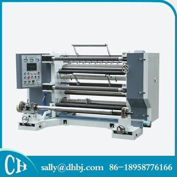 High-precision LFQ PLC control advanced adhesive slitting machine for film and paper roll
