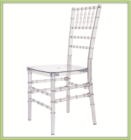 Transparent Resin Acrylic Plastic Chair Resin Chiavari Chair for Wedding