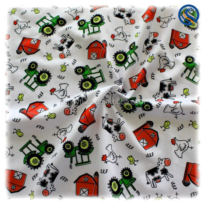 2016 new happyflute polyester minky PUL fabricwholesale new print cloth fabric TPU waterproof cloth diaper material