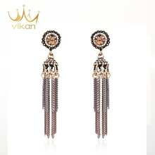Ladies Jewellery fashion temperament luxury single stone earring designs