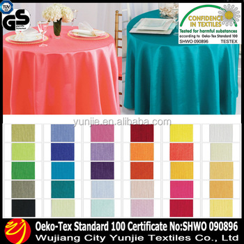 Waterproof 150-300CM Polyester Shantung Tablecloth Fabric