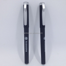 Supply logo printed high quality cheap rubber gel pen for promotional gift
