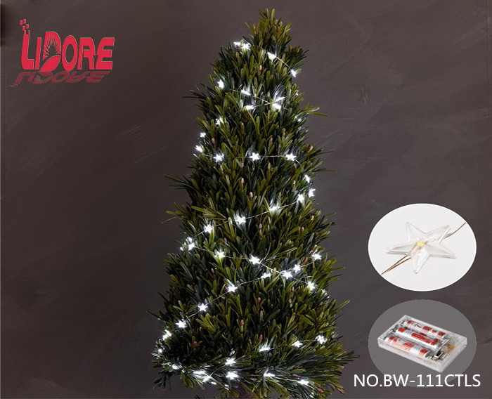 UL LIDORE Christmas mini led light copper wire star light