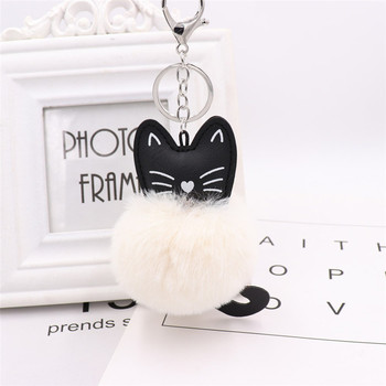 Fashion plush leather rabbit general bag, car, hang act the role ofing is tasted Custom logo