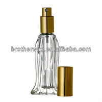Natural Cosmetics Glass Perfume Bottle Purse/Travel Atomizer with Gold Cap Miami