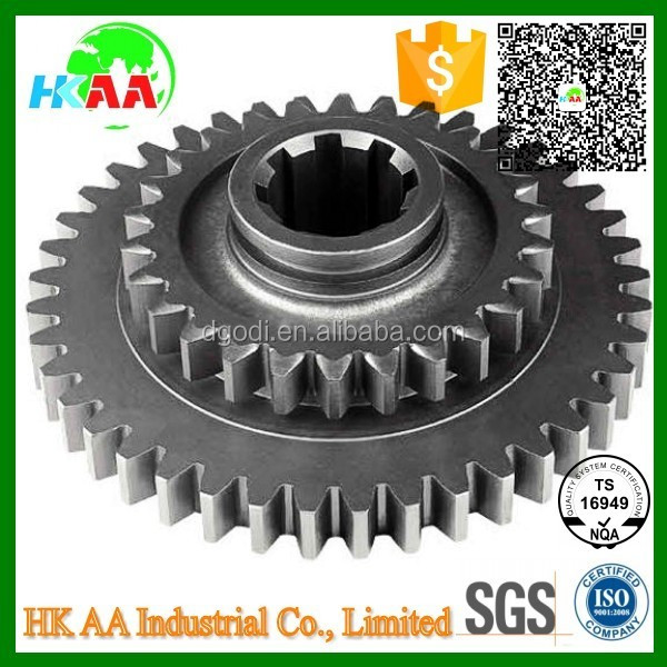 Custom precision spur gear manufacturer, carbon steel small transmission double spur gear for robot
