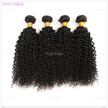 100% Unprocessed Cheap virgin peruvian kinky curly remy hair weave