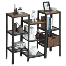 SONGMICS Vintage Multifunctional <strong>Shelf</strong> large book mdf cardboard with 9 Tiers