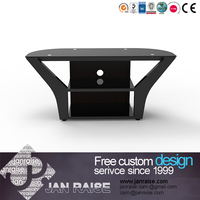 Luxury tv stand home glass tv stand with wooden mdf